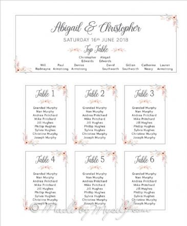 Floral Circle Table Plan